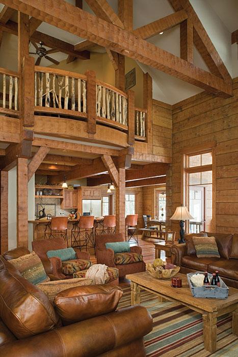 log homes interior photos zak interiors. Black Bedroom Furniture Sets. Home Design Ideas