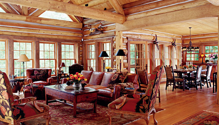 Log Homes Interior Photos Zak International Interiors